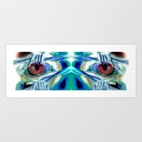 pain Art Prints featuring Pain by Robin Curtiss