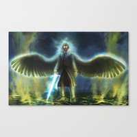 good omens Canvas Prints featuring Good Omens: Yellow Smoke by Katerina Romanova