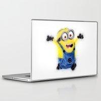 minion Laptop & iPad Skins featuring Minion by KitschyPopShop