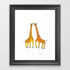 Unicorn Giraffes Framed Art Print