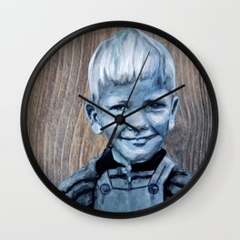Charly Driftwood Wall Clock