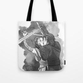 Sparring Kiss Tote Bag