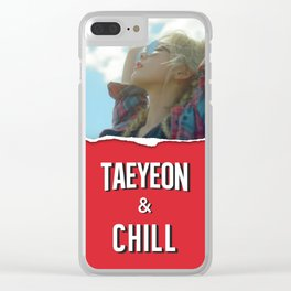 TAEYEON & CHILL Clear iPhone Case