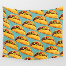 Taco Pattern Wall Tapestry