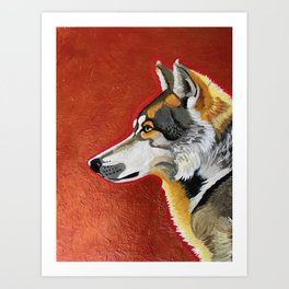 Wolf and Copper Art Print