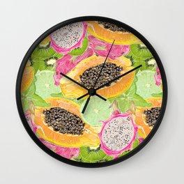 Sunny fruit pattern Wall Clock