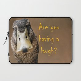 A funny duck Laptop Sleeve