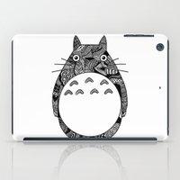 ghibli iPad Cases featuring Ghibli Zentangle by Riaora Creations