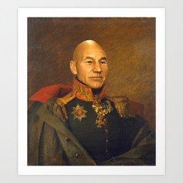 Sir Patrick Stewart - replaceface Art Print