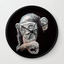 a Jane Goodall quote - black Wall Clock