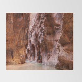 The Narrows Zion National Park Utah Throw Blanket