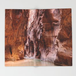 The Narrows Zion National Park Utah Throw Blanket