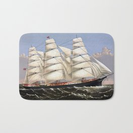 Clipper Ship Three Brothers Bath Mat