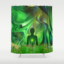 Heart Chakra Energy. Shower Curtain