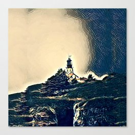 A Light In The Tempest Canvas Print