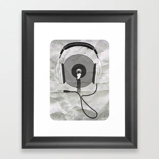 vinyl afro Framed Art Print