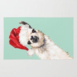 Christmas Sneaky Llama Rug
