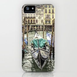 Rainy Day on The Grand Canal in Venice iPhone Case