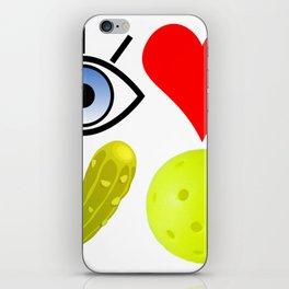 I love pickleball (wide) iPhone Skin