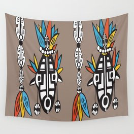 African Tribal Mask No. 7 Wall Tapestry