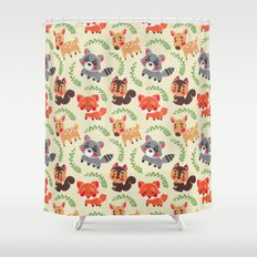 The Happy Forest Friend Shower Curtain