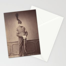 Vintage Photographic Print - M. Dupont, Fourier for the 1st Hussars (1858) Stationery Cards