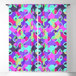 Multicolor Circle Quarters Blackout Curtain