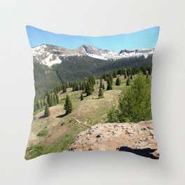 Surveying the Grandeur from Molas Pass, at 10,910 feet Throw Pillow