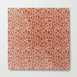 Giraffe Animal Print Pattern Metal Print