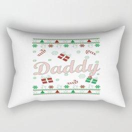 Daddy Christmas Rectangular Pillow