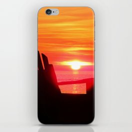 Sunset and the Chair iPhone Skin