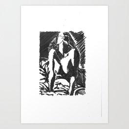 Female Nude Body  Art Print
