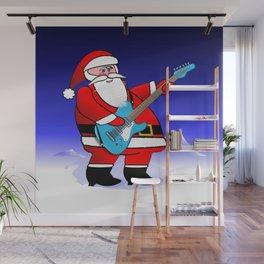 Santa Plays Guitar Wall Mural