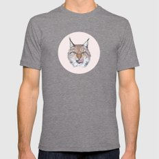 Lynx Lynx portrait Tri-Grey Mens Fitted Tee LARGE