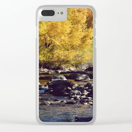 Eagle River in Avon Colorado Clear iPhone Case