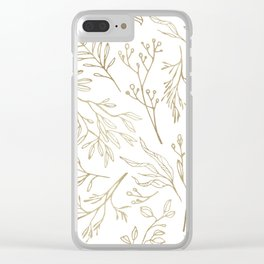 Golden Nature Clear iPhone Case