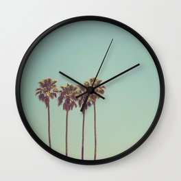 Vintage Palm Trees Wall Clock
