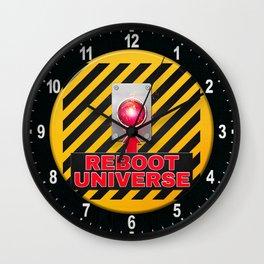 Reboot Universe Button Wall Clock
