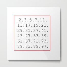 prime number Metal Print