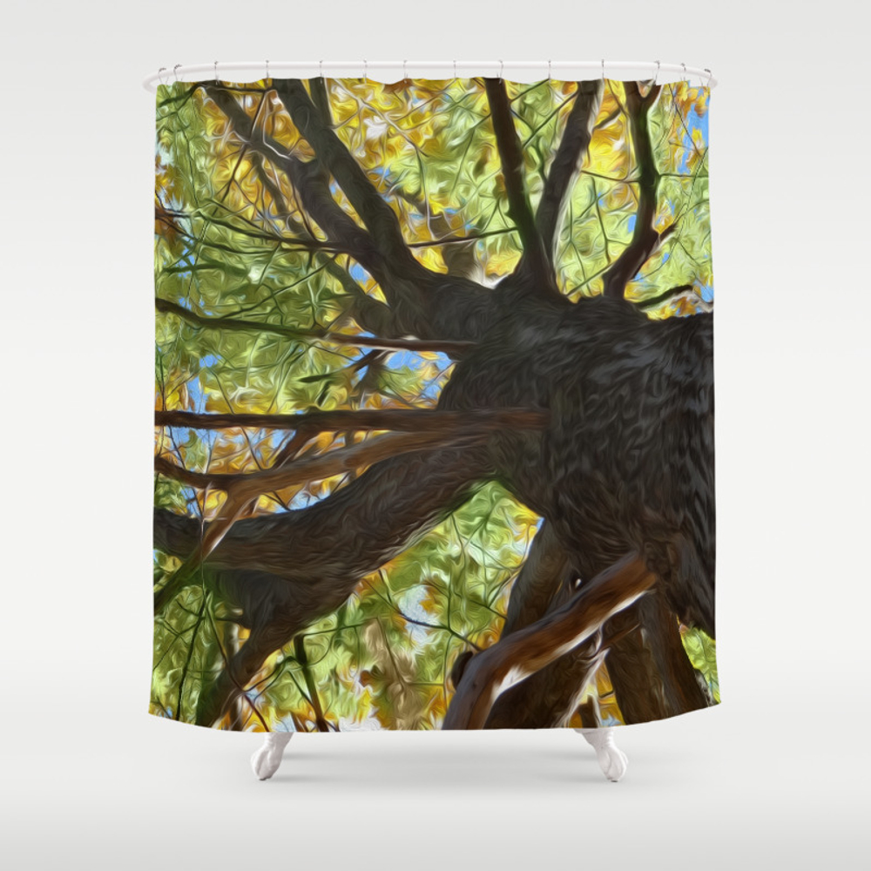 The Mighty Oak Shower Curtain by Lidkas CTN8279452