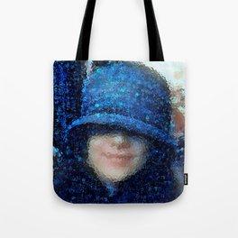 The Blue Cloche Hat Tote Bag