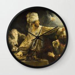 """Rembrandt Harmenszoon van Rijn, """"Belshassar's Feast"""", 1636-8 Wall Clock"""