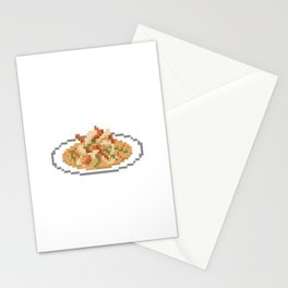 Evil Curry Pixel Stationery Cards