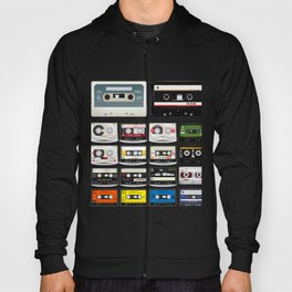 Collection of Retro Audio Cassette Tapes Hoody