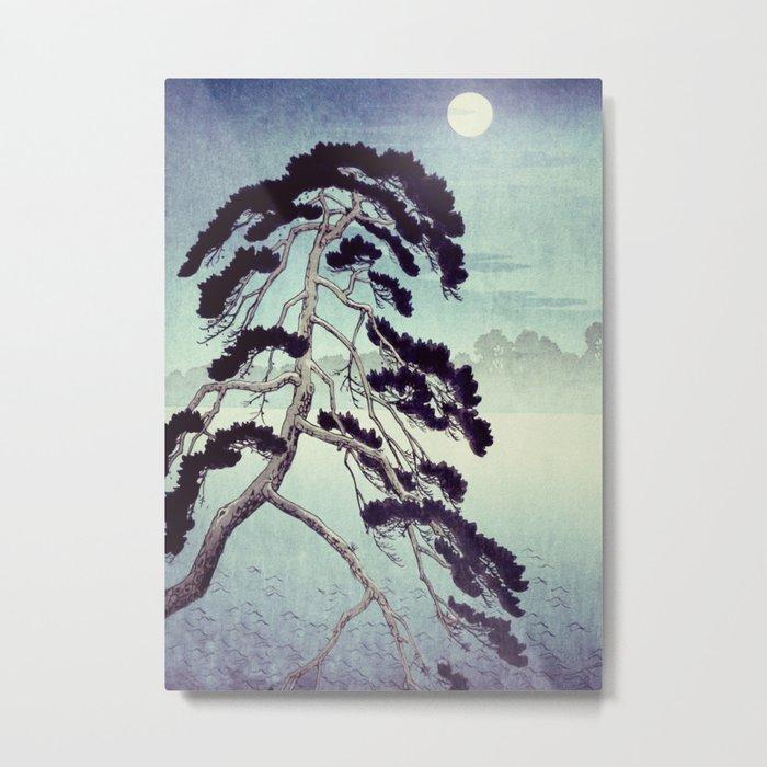 At the Moon in Zensein Metal Print