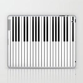 The Piano Black and White Keyboard Laptop & iPad Skin
