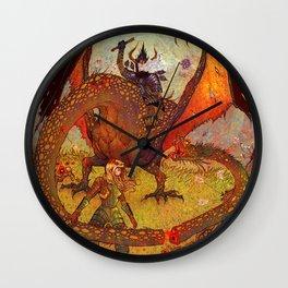 Dragon Slayer Wall Clock