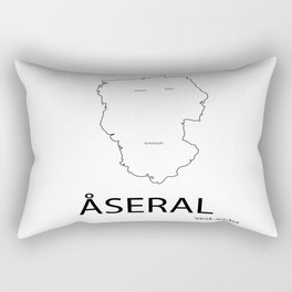 map of åseral Rectangular Pillow