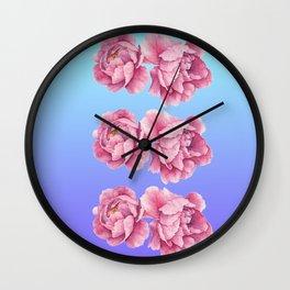 Watercolor Peony Fade Wall Clock