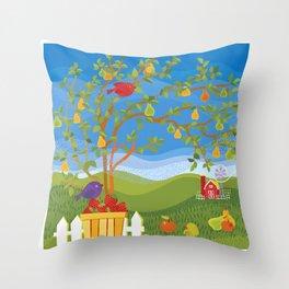 Summer Fruit Farm Throw Pillow